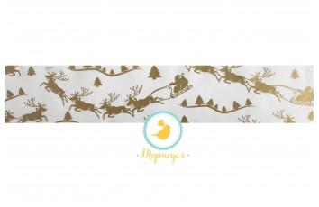Бордюрная лента с рисунком, ширина 5 см, длина 1м (Зимняя сказка)