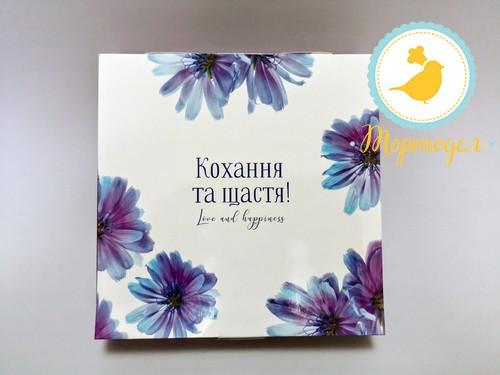 Коробка для конфет 185х185х42 на 16 штук №8 Василек.Купить в Харькове,Киеве по лучшей цене в интернет- магазине Тортодел