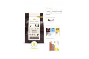 """Шоколад чёрный """"Callebaut Select"""" 54,5% - Оригинальная упаковка 2,5 кг (811-E4-U71)"""