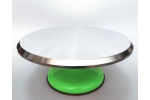 Подставка крутящаяся для работы с тортом Зеленая 300*150 мм №3