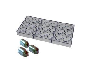 Поликарбонатная форма для конфет Капcула 21 шт.