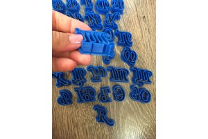 Вырубка алфавит 5,5 см русский пластиковый