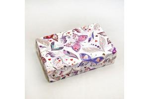 Коробка для еклеров, зефира, печенья и прочих десертов 230*150*60 мм Бабочки