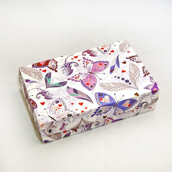 Коробка для еклеров, зефира, печенья и прочих десертов 230*150*60 мм Бабочки.Купить в Харькове,Киеве по лучшей цене в интернет- магазине Тортодел