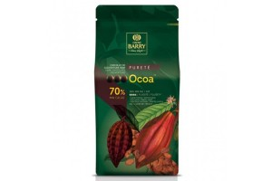 Шоколад чёрный Cacao Barry Ocoa, 70% - 1 кг оригинальная упаковка (CHD-N70OCOA-2B-U73)