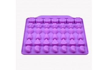 Форма силиконовая для конфет, льда Фрукты ассорти из 42 ед на планшетке.