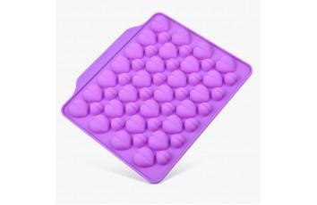 Форма силиконовая для конфет, льда Сердечки ассорти из 52 ед на планшетке