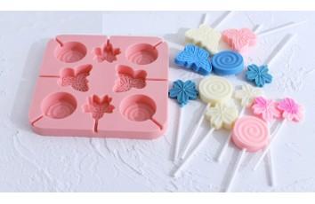 Форма силиконовая для конфет Бабочки, цветы из 8 ед.