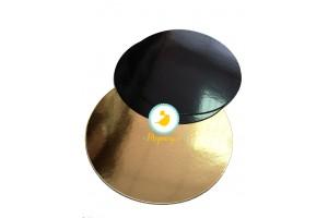 Подложка круглая D26 черная/золото