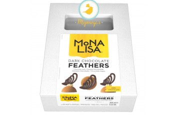 Декор перья темный шоколад Mona Lisa 150x4 240гр