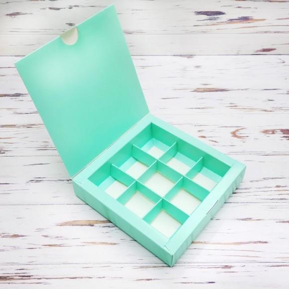 Коробка для конфет 153х153х30 на 9 штук Тиффани.Купить в Харькове,Киеве по лучшей цене в интернет- магазине Тортодел