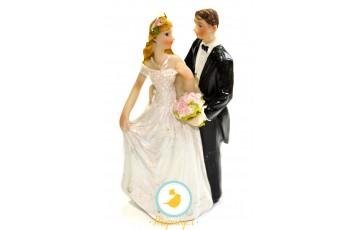 Фигурка жених и невеста 12 см 1203А