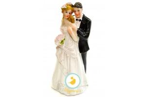 Фигурка жених и невеста 12 см 1203С