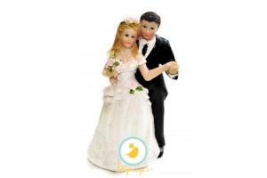 Фигурка жених и невеста  15 см 1204С