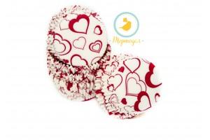 Форма для кексов  Валентинка №3 50 х 30, 50 шт(красная)