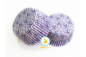 """Форма для кексов """"Узор праздничный"""" 50х30 50шт.(фиолетовый)"""