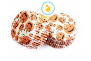 """Форма для кексов """"Хелоуин-2"""" 50х30 50шт.(черно-оранжевые)"""