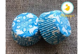 Форма для кексов Новый год №1 50х30 50шт.(голубой)