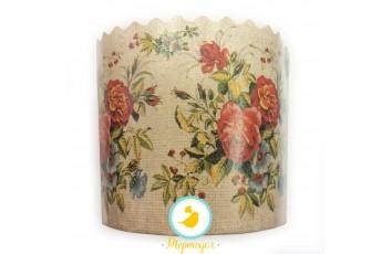 Форма пасхальная бумажная d90 Цветы №1