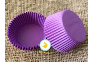 "Форма для кексов ""Пурпурная"" 50х30 50шт.(однотонная)"