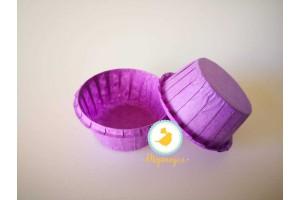 Форма бумажная для кексов с бортиком фиолетовая, 55*35 мм 25 шт
