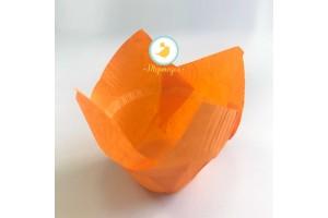 """Форма бумажная для кексов """"Тюльпан с бортиком"""" оранжевый, 50*85 мм 25 шт"""