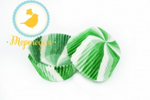 Форма для кексов Вертушка 50 х 30 см, 50 шт (зеленая)