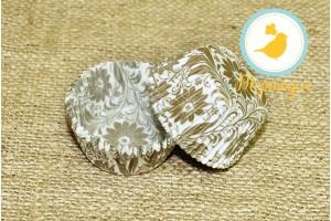 Форма для кексов Весна 50 х 30 см, 50 шт (золото)