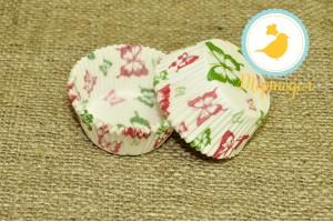 Форма для кексов Бабочки (красно-зеленые) 50 х 30 см, 50 шт