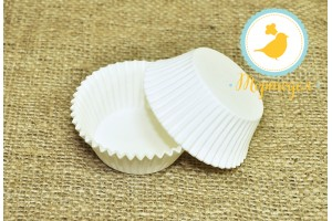 Форма для кексов белая 50 х 30 см, 100 шт