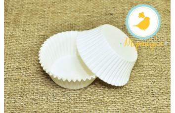 Форма для кексов белая 50 х 30 см, 50 шт. Италия