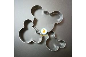 Набор форм для торта из 3-х Mickey Mouse