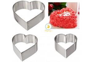 Набор форм для торта из 3-х Сердце