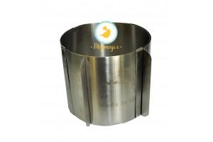 Форма металическая раздвижная круг №4 д16-30 см высота 15 см