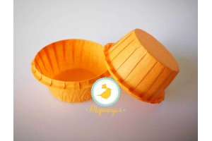Форма бумажная для кексов с бортиком оранжевая, 55*35 мм 25 шт