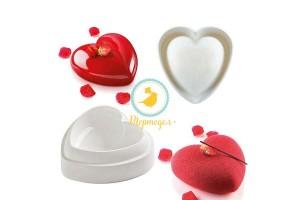 Форма силиконовая для выпечки евродесертов Сердце