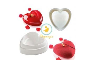 Форма силиконовая для выпечки евродесертов Сердце, большое