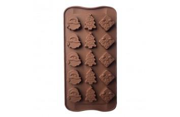 Форма силиконовая для конфет, льда НГ №5 на планшетке.