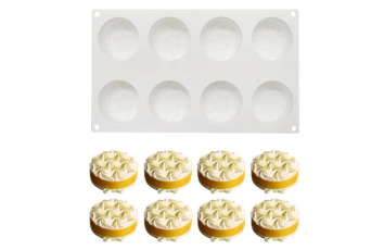 Форма силиконовая для евродесертов mini Узор Мороженое 8 ед