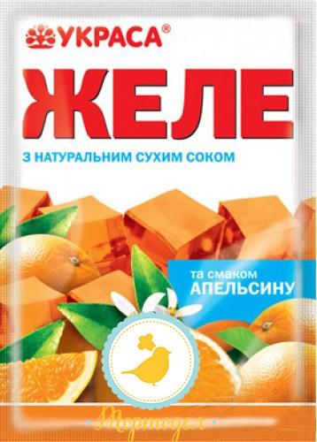 Желе вкус Апельсин натуральные красители/Купить в Киеве,Харькове по лучшей в интернет магазине Тортодел