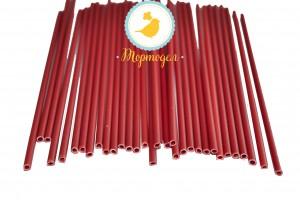 Палочки для кейк-попсов Красные 50шт. высота 15 см, д 5мм