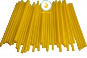 Палочки для кейк-попсов Желтые 50шт. высота 15 см, д 5мм