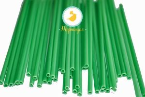 Палочки для кейк-попсов Зеленые 50шт. высота 15 см, д 5мм