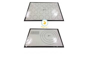 Коврик силиконовый универсальный 43x28см с кругами и разметкой
