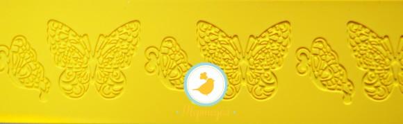 Коврик для гибкого айсинга 8 х 38 Бабочки.Купить в Киеве,Харькове и Украине по лучшей цене в интернет магазине Тортодел