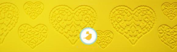 Коврик для гибкого айсинга 8 х 38 Сердца.Купить в Киеве,Харькове и Украине по лучшей цене в интернет магазине Тортодел