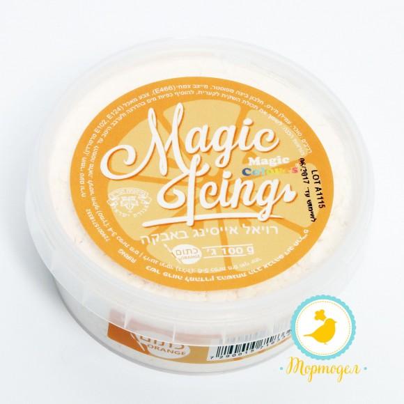 Айсинг оранжевый ( Magic Icing - Orange) - 100 г.. Купить в Киеве и Украине по лучшей цене в интернет магазине Тортодел.