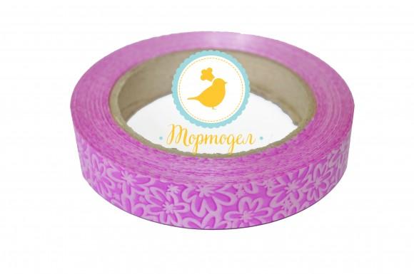 Декоративная лента 2*50 цвет малиновый.Купить в Киеве,Харькове и Украине по лучшей цене в интернет магазине Тортодел