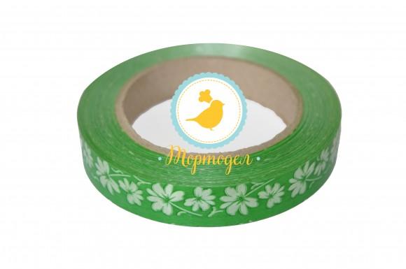 Декоративная лента 2*50 цвет  зеленый.Купить в Киеве,Харькове и Украине по лучшей цене в интернет магазине Тортодел