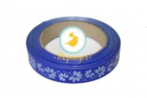 Декоративная лента 2*50 с рисунками,цвет синий
